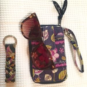 Vera Bradley Wristlet w/matching braided key chain